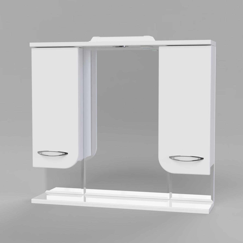 Зеркальный шкаф с двумя отделениями БАЛИ 80